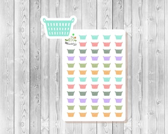 S046 - 58 Laundry Basket Planner Stickers