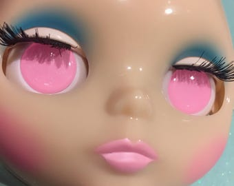 Pastel Pink Soft Resin Eye Chips For Blythe (14 mm)