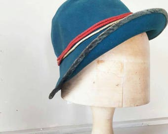 Blue Flapper Cloche Hat