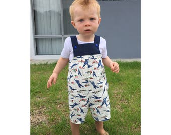 Boys vintage romper, boys cotton romper, vintage overalls, baby boy outfit, baby boy romper, toddler boy romper, vintage style romper