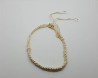 Plain braided hemp anklet, bracelet  (HAN009)