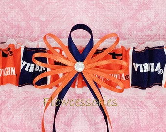 Pick Charm - University of Virginia Cavaliers - UVA handmade bridal wedding garter - toss