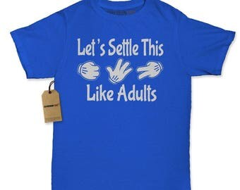 Let's Settle This Like Adults - Rock Paper Scissors Womens T-shirt
