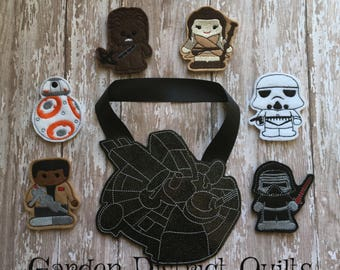 Inspired Star Wars Finger Puppet Set  With Cases