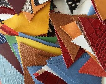 Triangle leather scraps