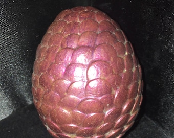 Purple Pink & Antique Gold Scaled Scales Dragon Egg Adopt One Today For Your Dragon Loving Friend! Great Christmas Present
