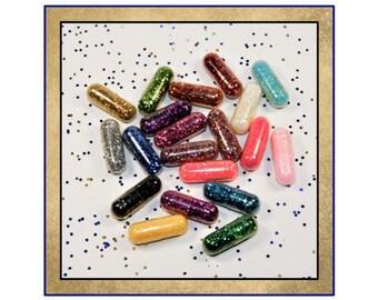 20 Glitter Pills, Glitter for Slime, Glitter Capsules, White Elephant Gift, Office Party Favor, Christmas Party, Beautiful, Glitter Pills