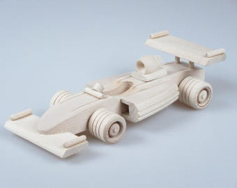 Wooden Car Toy, Kids Toy, Racing Car, Gift For Kids, Formula 1, Gift idea for Boy, Push Along Car, Eco Friendly, Push and Pull Toys