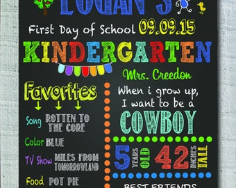 First day of preschool,  first day of kindergarten sign, first day of school sign, DIGITAL