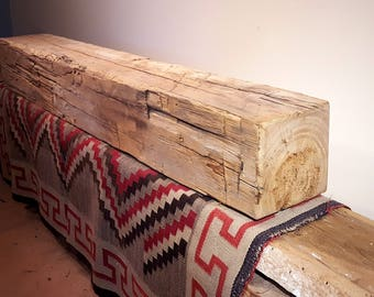 Fireplace Mantel, Reclaimed Wood Mantel, Floating Mantel, Barn Beam Mantel, Rustic Mantel, Hand Hewn Mantel, Barnwood Mantel,