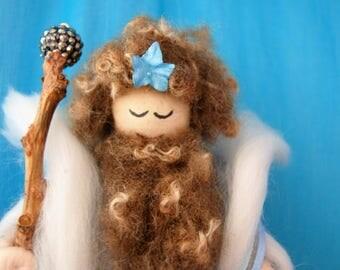 Professor Niall - Wool Felt Wizard. Magician. Mage. Woodland Folk. Fairy Folk. Pagan Doll. Wiccan Doll. Hand Made Wizard. Charming Magician