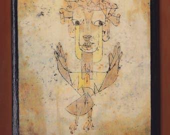 Paul Klee - Angelus Novus, Israel Museum. FREE SHIPPING