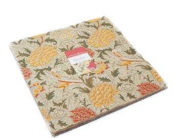 """PREORDER Moda - 10"""" Squares """"William Morris 2017"""" by V & A -- 42 -10 inch squares. Layer Cake, 7300LC, Reproduction, Shipping October 2017"""