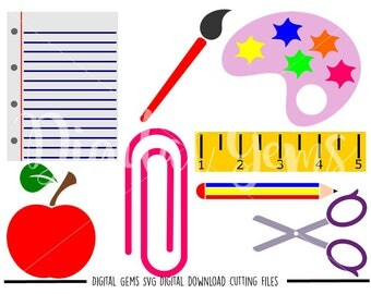 School Designs svg / dxf / eps / png files. Digital download. Compatible with Cricut and Silhouette machines. Small commercial use ok.