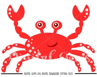 Crab svg / dxf / eps / png files. Digital download. Compatible with Cricut and Silhouette machines. Small commercial use ok