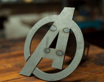 Avengers A Trailer Hitch Cover- Raw