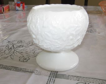 Compote Dish, No Lid in Bramble Milk Glass  by Westmoreland