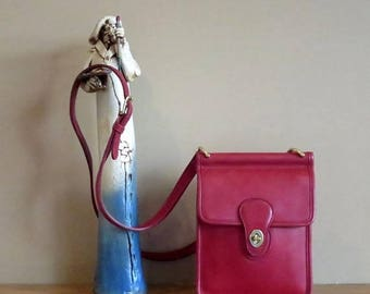 Back To School Sale Coach Murphy Bag In Red Leather Style Number 9930- Made in U.S.A. -Very Good Condition