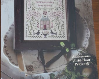 Happy Birthday - Blackbird Designs - Anniversaries of the Heart Pattern 6