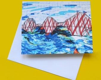 Forth Rail Bridge - Edinburgh note card