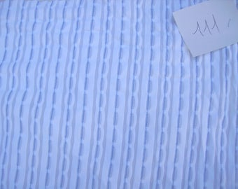NO. 111-FABRIC STRETCH WHITE TRANPARENT POLYAMIDE HAS STRIPED BLUE-TRANSPARENT