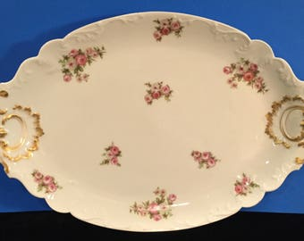 Large Antique Haviland Limoges Platter Trimmed in Gold
