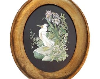 vintage french golden wooden frame