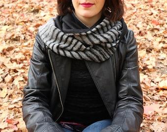 Wool infinity scarf