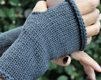 Knit fingerless gloves, Winter mitts, Texting gloves,Hand knit gloves, Womens mitts, Fingerless mittens,Handknit gloves, 9 colours