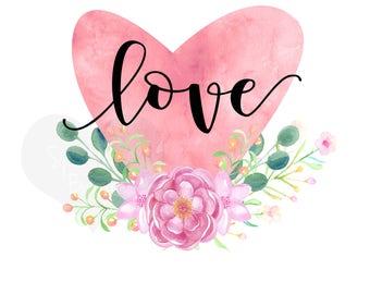Valentine Iron On Ready To Press Transfer Valentine, Love you more Iron on, Valentine's Day Iron on, Sublimation Transfer