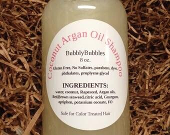Argan Coconut Oil Shampoo Gluten Free