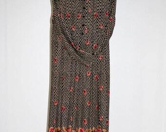 On Sale T*L*C S-A-L-E. Vintage Rose Pattern Maxi Dress. By Olivia Rose New York. Size 8. Boho-Hippie. Free Us Shipping.