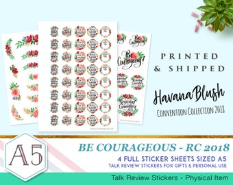 Havana Blush - Be Courageous - RC2018 - Talk Review Stickers