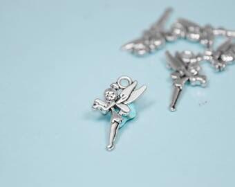 10PK BULK | Silver Fairy Tinkerbell Charm