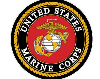 USMC Seal (M41) Marine Corp Decal Sticker Car/Truck Laptop/Netbook Window