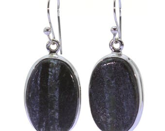 Seraphinite Earrings, 925 Sterling Silver, Unique only 1 piece available! color green, weight 6.1g, #37286