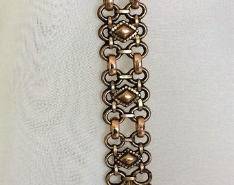 OOAK awesome  gold-plated watch chain brooch
