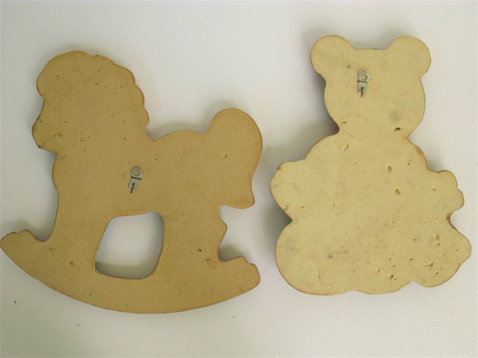 Vintage Nursery Wall Decor, Rocking Horse, Teddy Bear, Little Boy\'s ...