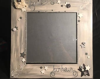 decorated square picture frame