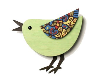 Happy Singing Modern Bird Wall Decor