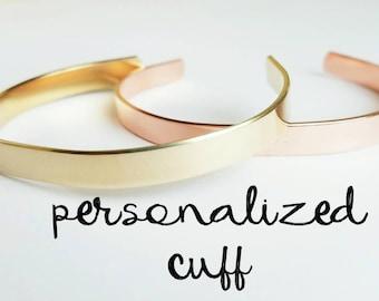 Custom Cuff Bracelet - Hand Stamped Bracelet Cuff - Personalized Cuff Bracelet - Personalized Valentines Gift - Name Bracelet - Gift for Her
