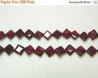 ON SALE 50% 5 Strands Garnet Kite Beads, Faceted Beads, Wholesale Garnet Beads, 7mm Beads, 14 Inches Each, SKU-Dscn5762