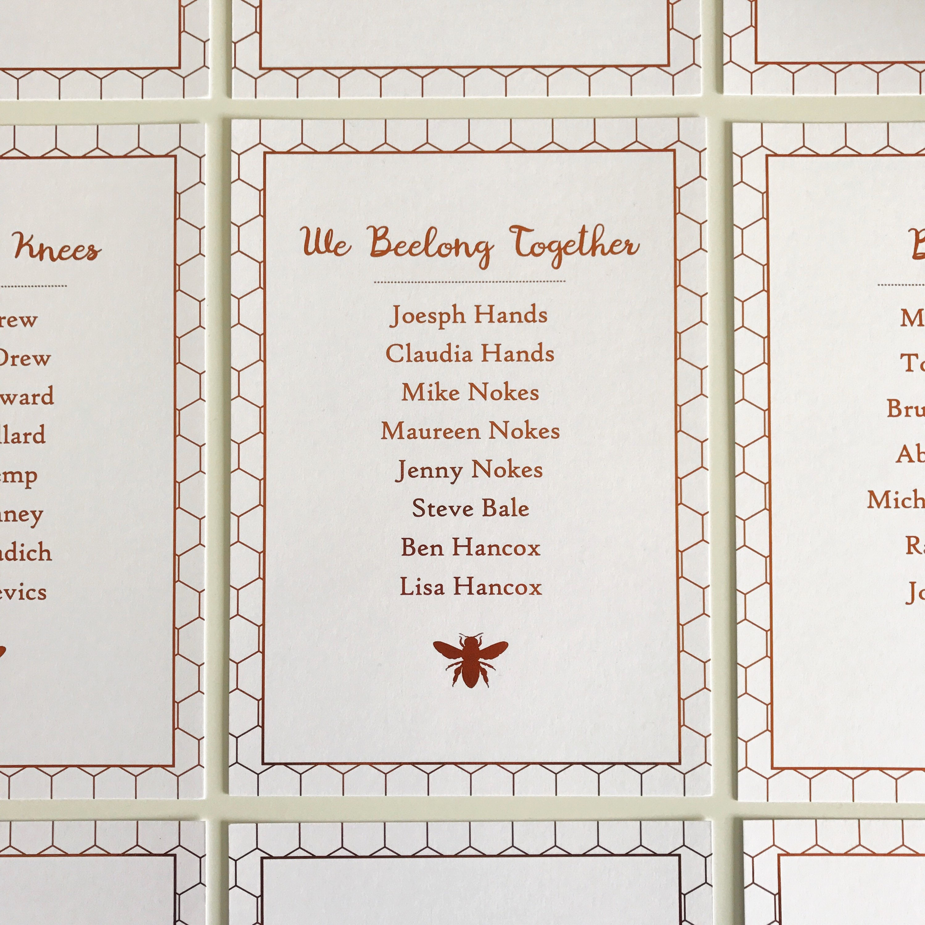 10 Honey Bee themed Wedding Table Name Signs [E10261624442398786M ...