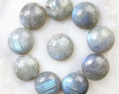 Labradorite - round cabochons - 16mm/2.5g each - set of 12