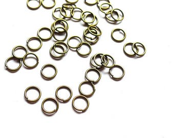 200 jump rings 4mm brass Bronze