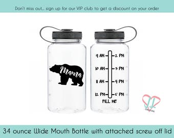 Mama Bear Water Bottle - 34 oz - Water Bottle - Mama Bear
