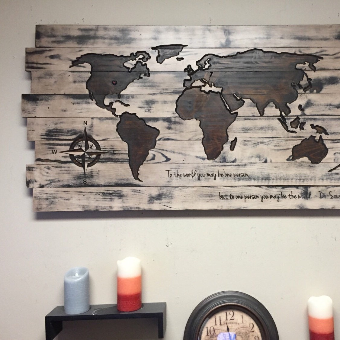 Large carved wooden world map pallet not all those who wander large carved wooden world map pallet not all those who wander are lost custom quote wooden map decor push pin map couples pallet map gumiabroncs Image collections