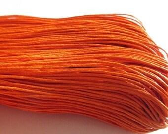 10 meters orange waxed cotton thread 1 mm