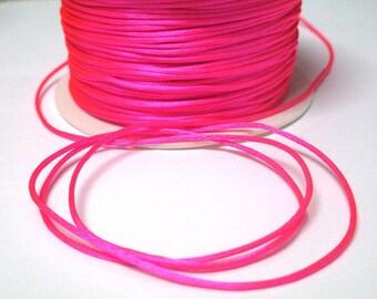 5 m neon pink rat tail 1 mm