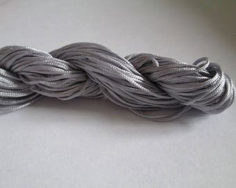 25 m wire nylon grey 1 mm